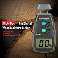 medidor de humedad higrómetro al por mayor-4 Pines Medidor de humedad del suelo de madera Medidor de humedad Medidor de humedad Probador Humedad Higrómetro Medidor de humedad planten