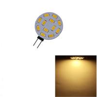 lâmpada led de 12v de pino venda por atacado-Lightme G4 12 LEDs SMD5730 DC 12 V Circular PlateLED Bi-pin Luz Para Lustre De Cristal Levou Lâmpada de Iluminação Lâmpada de 120 Graus Frete Grátis