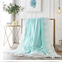 Wholesale comforters tencel for sale - 60S tencel air conditioned duvet hometectile bed spread summber quilt comforter stiching quilt blanket plaid twin full and queen size