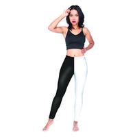 jeggings yazdırıyor toptan satış-Kızlar Tayt Siyah Bacak Beyaz Bacak 3D Dijital Tam Baskı Egzersiz Yoga Aşınma Pantolon Kadın Tam Boy Jeggings Lady Sıkı Pantolon (Y54527)