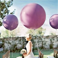 Wholesale wedding green balloons resale online - 1PCS Inchs Wedding Decoration Helium Giant Ballons Birthday Party Decor Inflatable Air Ball Colors Big Large Latex Balloons