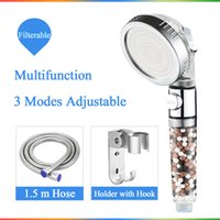 Wholesale high pressure ball for sale - Group buy Saving Water SPA shower head with stop button Modes adjustable high pressure shower head New Replacement Filter balls