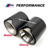 2PCS Real Carbon Fiber Exhaust Pipe Muffler tip For BMW M Performance 235i 240i 335i Akrapovic exhaust tips