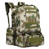 Wholesale water resistant camping bags for sale - Group buy 2018 Lixada L Outdoor Military Molle Tactical Backpack Rucksack Hiking Camping Field Pack Water Resistant Bags D Camouflage
