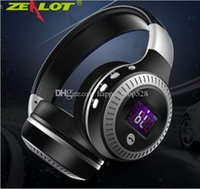 Wholesale headset card slot resale online - ZEALOT B19 Wireless Headset Powerful Bass Stereo Bluetooth Headphone With Microphone FM Radio TF Card Slot Headsets for smart Phone