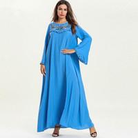 xl roupa feminina muçulmana venda por atacado-2019Autumn New 4XL 3XL 2XL XL Plus Size Plus Size Plus Size Plus Size Vestido Plus Size Vestido Plus Size