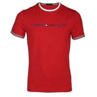 белые боксерские шорты оптовых-19SS 25-летие Swarovski-Box L0go Tee Street Памятная мужская дизайнерская футболка с круглым воротом женские черные белые красные шорты