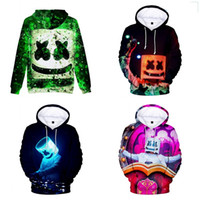 Wholesale home printing for sale - DJ Marshmello Hoodie Sweater D Digital Printed Round Neck Shirt Pullover Tops Cartoon Home Clothing New Arrival hjE1