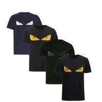 imágenes de camisas de color claro al por mayor-VL 2019 Diseñador de Lujo Novedad Camisetas Para Hombres Camisetas Casuales Carta de Moda FF ROMA Bordado Camiseta Para Hombre Camisetas de manga corta camisetas