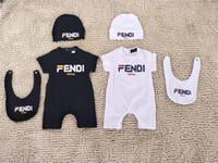 barboteuses pour 18 mois achat en gros de-Ensemble de vêtements de marque pour bébé garçon blanc Vêtements de fille de bébé Combinaisons barboteuses + chapeau nouveau-né vêtements de garçon pour bébé 0-18 mois Ensemble de vêtements pour enfants