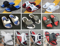 Wholesale straw sandal slippers resale online - Sandals Hydro Bred s s s Slippers Men With Box Red Black White