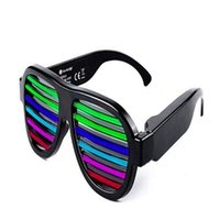 Wholesale bright sunglasses resale online - 2021 Flashing Glasses EL Wire LED Glasses Glowing Party Supplies Lighting Novelty Gift Bright Light Festival Party Glow Sunglasses