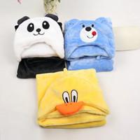 bebés del mantón al por mayor-11 colores Bebé manta infantil Recién nacido animal de dibujos animados Farai Capa con capucha niños toallas de baño toweling envoltura envoltura mantas de la siesta Mantón envuelto