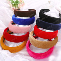 Wholesale wide wedding bands for women for sale - Group buy Velvet Sponge Hairband Fashion Wide Headband Hair Bands For Women New Girl Head Band Hair Accessories