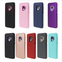 Wholesale iphone pink silicone case for sale - Matte Finish in Hybrid Defender Phone Cases For iPhone XR XS MAX Plus Samsung S9 Plus Note