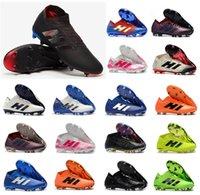 football agilité achat en gros de-Nouveau Nemeziz 18.1 18+ FG Archetic Messi Hommes 18 + x Chaussures de Football Agilité Bandage Spectral Mode Bottes de Football Crampons Taille