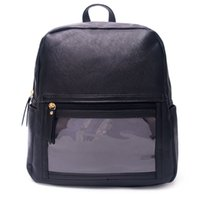 Wholesale personalized lipstick for sale - Group buy PU Leather Lipstick Backpack Serape Display Packs Blanks Solid Black Girl s Bag WOW Personalized Backpack DOM1023