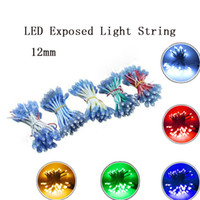 panneaux publicitaires légers achat en gros de-LED Pixel Module LED corde lumière IP65 lumières point DC12V Guirlande de Noël adressable pour la publicité Conseil Décoration