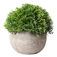 Wholesale vintage green planter for sale - Group buy Artificial Plant Vintage Plastic Potted Green Fake Plant Decor Plant Bonsai Artificial Planters Indoor Home Decor