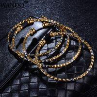 ingrosso giorni braccialetti bambino-Wando 4pcs braccialetto per il braccialetto i bambini per i monili del bambino può aprire le donne braccialetti del bambino di colore oro gioielli madri giorno di Natale