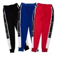 pantalones salvajes de los hombres al por mayor-Pantalón de hombre casual salvaje largo pantalón deportivo de primavera y otoño tendencia de moda string printingoat