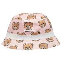 ingrosso prodotti boutique-Lovely Girls Bear Stampa Sun Hats Estate 2019 Kids Boutique Accessori Bambini Ragazze Cappelli Prodotti speciali