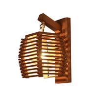Wholesale hotel chinese painting for sale - Group buy Creative vintage chinese bamboo wall lamp E27 wall sconce light aisle corridor hotel ktichen dinging room restaurant cafe light