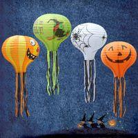 ingrosso proiettili a palloncino-Lanterna di carta a palloncino con lanterna di zucca di Halloween con barba Jack-o '-Lantern Hotel Decorations Show Props L324