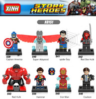 Wholesale toy semi online - Kids Gifts Super Hero Figures Toys The Avengers Toys Hobbies Classic Action Figures DIY Building Blocks Bricks Minifigures irene1688