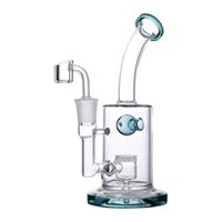 Wholesale bong christmas gifts resale online - Glass Bong Water Pipe Oil Rig Smoking Pipe inch Glass Honeycomb Perc Bong Dab Rig with Quartz Banger Gifts for Christmas Thanksgiving Day