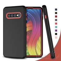 Wholesale note shockproof resale online - For S10 Plus Hybird Case in Design Protective silicone Hard PC Combo Armor Case for Samsung S10 Plus S10E Back Shockproof Cover cases