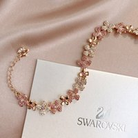 розовое розовое очарование для браслетов оптовых-2019 год горячий, чтобы порекомендовать новую любимую женскую розу золото розовый браслет браслет микромозаика технологии