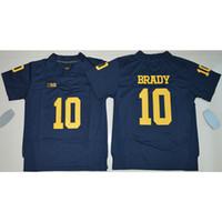 tom spiele großhandel-Mens Michigan Wolverines Tom Brady Genähte NameNumber Spiel American College Football Jersey Größe S-3XL