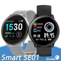 telefones ip68 venda por atacado-SE01 inteligente Pulseira Smartwatch relógio inteligente Bluetooth Música IP68 Caller Waterproof exibição SMS para o iPhone Android Assista entregas