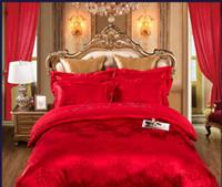 ingrosso set puro comforter di cotone-100% lussuoso cotone jacquard puro cotone semplice moderno e moderno Nordic matrimonio set biancheria da letto 4 pezzi / consolatore set / doona set copripiumino