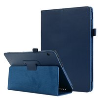 Wholesale huawei tablet leather case for sale - Group buy Folio Folding Litchi Leather Case for Huawei MediaPad T5 Mediapad M5 inch Tablet