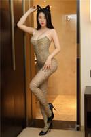 sexy mulheres sexy suspensórios venda por atacado-Hot-selling moda feminina suspender sexy com virilha aberta meias de seda sexy, uniforme de leopardo sedutor de uma peça sexy underwea