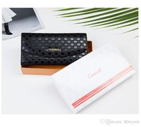 Wholesale black white cowhide purse for sale - Group buy 2017 New Design Fashion Multifunctional Purse Genuine Leather Women Wallet Long Style Alligator Cowhide Money Purse