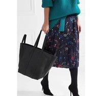 totes do couro bolsas venda por atacado-2018 nova moda quente mulheres saco genuíno couro do couro ceia estrela mesmo estilo mulheres big tote bag DHL frete grátis