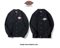 ingrosso stampa uniforme logo-2019 primavera e autunno sezione sottile in cotone tendenza marchio Dic Kies giacca classica stampa logo uniforme da baseball giacca casual cardigan M-2XL