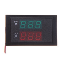 panel meter ac großhandel-Digitaler Strom und Spannung Meter LED-Panel Instrument Ac verdoppeln Anzeigen Ammeter Spannungsprüfer Led Voltmeter Amperemeter 80-300V 50A