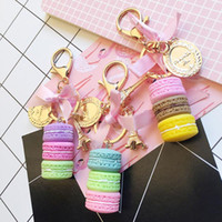 Wholesale baby shower giveaways gifts for sale - Group buy 20pcs Baby Shower Party Favors Guest Giveaway Macaroon Cake Model Pendant Keychains Gift Bag Decoration For Wedding Souvenir