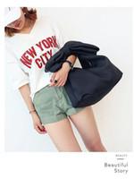 Wholesale handbags styles shoulder shapes resale online - Concave shape shoulder bag cosmetic bag cute hook bow space cotton portable clutch round female handbag