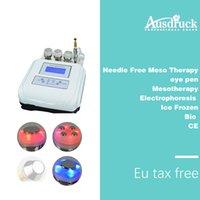 máquina de mesoterapia sem agulha venda por atacado-Livre de impostos da UE 4in1 Agulha Mesoterapia Mesoterapia livre terapia Photon Ultrasonic Rejuvenescimento Da pele anti rugas Beleza Dispositivo de design de mesa