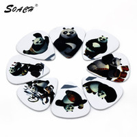 púas de guitarra blanca al por mayor-10 unids / lote 1.0 mm 0.46 mm 0.71 mm grosor selecciones de guitarra Kung Fu Panda selecciones blancas de guitarra, lindo, dibujos animados gr accesorios de correa de guitarra