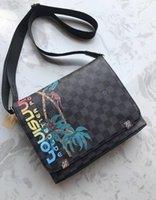 сумки для пожилых людей оптовых-Высокое качество нового прибытия Марка Классический дизайнер моды Мужчины сумки через плечо сумка школьный портфель сумка