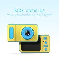 niedliche digitalkameras großhandel-Mini Digital Kinder Kameras 2 Zoll Cartoon Nette Kamera Spielzeug Kinder Geburtstag Geschenk 1080 P Kleinkind Spielzeug Kamera