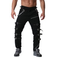 3518f1987a2 Men s Tactical Pants Casual Cotton Loose Overalls Fashion Large Size Metal  Decoration Cargo Pants Trousers for Male