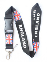 Wholesale britain flags resale online - DHL GREAT BRITAIN WITH BRITISH FLAG KEYHOLDER LANYARD