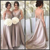 Wholesale bridesmaid dresses under 100 online - Simple Cheap Bridesmaid Dresses Custom Made Different Color V Neck Chiffon Backless Sheer Tulle Wedding Guest Gowns Maid Of Honor Dresses